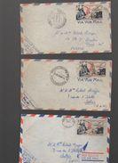 Lot De 6 Enveloppes AEF 1952 (PPP6035) - Postzegels