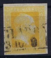 PREUSSEN  Mi Nr 8 B  Orangegelb Obl./Gestempelt/used - Prusse