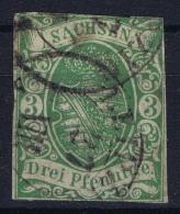 SACHSEN  Mi Nr 2 II  Obl./Gestempelt/used 1866 Has A Small Thin Spot - Saxony