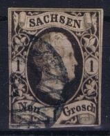 SACHSEN  Mi Nr 4 I  Obl./Gestempelt/used - Saxe