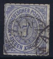 Norddeutscher Postbezirk  Mi Nr 10  Obl./Gestempelt/used - Conf. De L' All. Du Nord