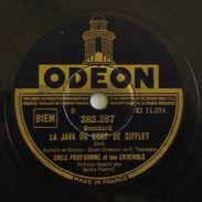 78T JACKY PIERVIL JAVA DU COUP DE SIFFLET. Emile Prud'homme. ODÉON. - 78 T - Disques Pour Gramophone