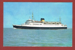 Scheepspost Zichtkaart Mer 7 Fr Elstrom En Stempels Schip / Navire  & Oostende X 27.10.75 2 Scan - Postmark Collection