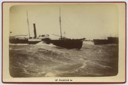 Bateaux . Le Havre . Le Steamer Le François Ier . Cabinet 1880-90 . - Bateaux