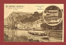Zichtkaart Les Mouettes Dinantaises Met Preo Dinant 1930 Naar Overpelt 2 Scan - Roller Precancels 1930-..