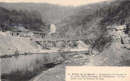 CPA 63 VALLEE DE LA SIOULE CONSTRUCTION DU BARRAGE DE L'USINE HYDRO ELECTRIQUE - France
