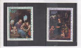 """DAHOMEY - Art - Peinture -Tableaux De Léonard De VINCI """"La Vierge Au Rocher"""" ,  Cesare De SESTO """"La Vierge Aux Balances"""" - Benin – Dahomey (1960-...)"""