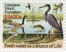 United States 1984 USA Birds Commemoratives Louisiana World Expo Bird Organizations Nature 20c Stamp MNH Scott#2086 - Organizations