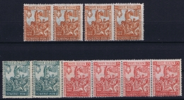 Italy: Sa 233 + 234 + 236   Postfrisch/neuf Sans Charniere /MNH/** 1928 Strips - 1900-44 Vittorio Emanuele III