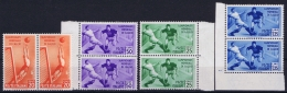 Italy: Sa 357 - 360  Mi Nr 479 - 483 Postfrisch/neuf Sans Charniere /MNH/** 1934 Pairs Sheetmargins - 1900-44 Vittorio Emanuele III
