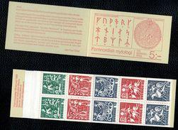 Svezia Sweden Schweden Suede 1981 Booklet Carnet Nordic Mythology 5vx2 Complete Set  ** MNH - Svezia