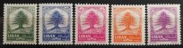 Lebanon 1964 Mi. A838-842 Cplte Set 5v. MNH - Cedar Tree - Lebanon