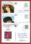 Geïllustreerde Postkaarten Zonder Bijfrankering 3 Stuks - Entiers Postaux