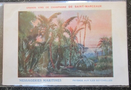 Seychelles Messageries Maritimes Champagne Saint Marceux Cpa - Seychelles