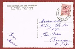 Carte Vue Waterloo Oblitération Waterloo Champ De Bataille 1956 ? 2 Scan - Franz. Revolution