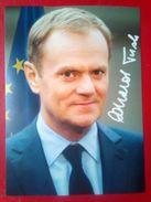 Donald Tusk, President Of The European Council - Autógrafos