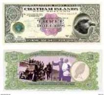 ChathamIslands 3 Dollars 2000 PNL-00 Type II - New Zealand