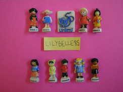 Série Complète De 10 Feves PERSO Anciennes En Porcelaine LES ENFANTS DU MONDE UNICEF 1996 ( Feve ) - Countries