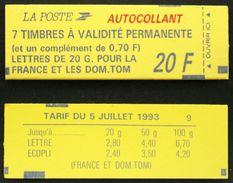 CARNET 1503 TB Cote 38€ Contenant Le 2824 Daté 16/07/93 - Usage Courant