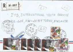 Cote D'Ivoire 2001 Abidjan 21 Nelson Mandela Nobel Cocoa AR Advice Of Receipt Registered Cover - Ivoorkust (1960-...)
