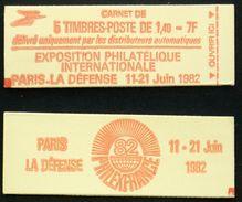 CARNET 2102-C-2a 5 SABINE 1,40F Rouge TB Cote 11€ - Definitives