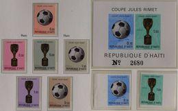 Soccer Football Haiti #1168/73 + 1174/5B + Bl 47 1970 World Cup Mexico MNH ** - World Cup