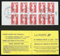 CARNET 2630-C1 10 MARIANNE BRIAT 2,30F Rouge TB Oblitéré Cote 25€ - Definitives