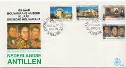 Netherlands Antilles Set On FDC - Museums