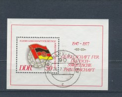 DDR/East Germany/Allemagne Orientale 1977 Mi: Block 47 Yt:  (Gebr/used/obl/o)(2733) - Blokken