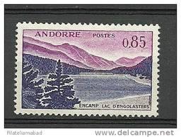 ANDORRA- CORREO FRANCES UNO DE LOS SELLOS DIFICILES DE ESTA SERIE Nº 163 SIN GOMA. - Nuovi