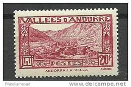 ANDORRA CORREO FRANCES-SELLO +++ SIN FIJASELLOS YVERT Nº 45 - Andorre Français