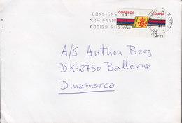 Spain Slogan Flamme MADRID 1992 Cover Letra BALLERUP Denmark ATM / Frama Label - 1931-Heute: 2. Rep. - ... Juan Carlos I