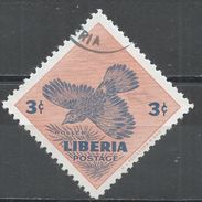 Liberia 1953. Scott #342 (U) Roller, Bird, Oiseau - Liberia