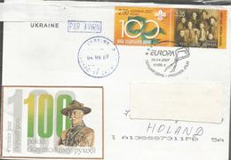 UKRAINE-EUROPA 2007. Centenaire Du Scoutisme, Sur Lettre Adressée Au Pays-Bas - Covers & Documents