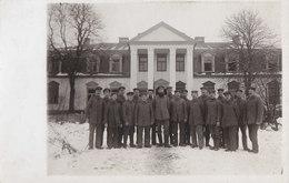 Foto Gawri Gavri Gawry Litauen Adelssitz SChloss 1916 Gesangsverein  Deutsche Soldaten 1.Weltkrieg - Lituanie