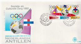 Netherlands Antilles Set On FDC - Summer 1992: Barcelona