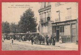 Montreuil (93)  Rue De Paris - La Poste Et Le Marché - Montreuil