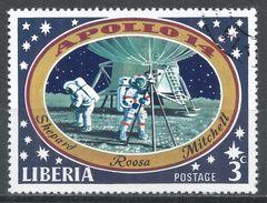 Liberia 1971. Scott #549 (U) Astronauts On Moon - Liberia