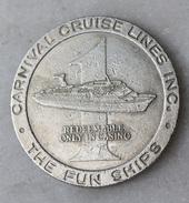 "Jeton De Casino Paquebot ""One Dollar Carnival Cruise Lines Inc."" Liner's Token - Casino"
