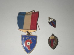 FEDERATION NATIONALE DES COMBATTANTS ET RESISTANTS 43/44  ???  + 2 EPINGLETTES  RM - Francia