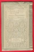 -- LA CHAMBRE DE COMMERCE DE LYON A MONSIEUR FALLIERES PRESIDENT DE LA REPUBLIQUE - MENU SUR SOIE -- - Menus