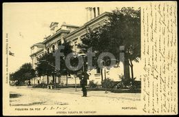 \904 OLD POSTCARD AVENIDA FIGUEIRA DA FOZ COIMBRA PORTUGAL POSTAL TARJETA POSTAL - Coimbra