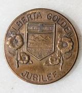"Jeton ""Alberta Golden Jubilee - Souvenir Coin Token Canada 1905-1955"" Armoiries - Professionnels / De Société"