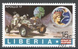 Liberia 1973. Scott #626 (U) Astronauts, Lunar Rover - Liberia