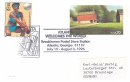 USA Upfranked Postal Stationary 1996 Atlanta Olympic Games -Atlanta Welcomes The World  (DD4-41) - Ete 1996: Atlanta