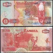 Zambia DEALER LOT ( 10 Pcs ) P 37 D - 50 Kwacha 2003 Printer SABN - UNC - Zambia