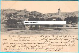 SKRADIN ... Krka River .... Near Sibenik  ( Croatia ) * Travelled 1900's * Scardona * By Antun Ciulic , Sebenik - Croatia