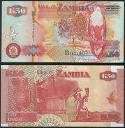 Zambia DEALER LOT ( 10 Pcs ) P 37 F - 50 Kwacha 2007 Printer SABN - UNC - Zambia