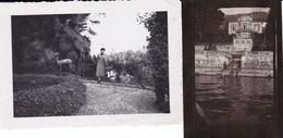 GHIFFA - VERBANO - LOTTO DI DUE FOTO DEL 1949-1953 - UNA CON VILLA RAVASCO CON DIDASCALIA - Lieux