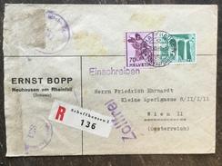 D18 Schweiz Switzerland Suisse Svizzera 1949 Brief Von Schaffhausen Mit Zensur Nach Wien - Switzerland
